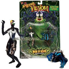 Product Features - Includes: BRIDE of VENOM and VILE the Spider with Snap Attack Legs - Bride of Venom figure measured approximately 5-1/2 inch tall - Produced in year 1997 - For age 5 and up Product