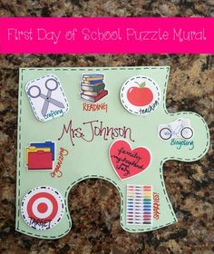 Back To School Craft and Bulletin Board Idea Could be a fun team building activity/ice breaker.
