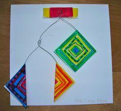 Fine Lines: 2nd Grade - kinetic art!