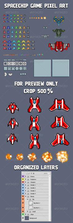 Spaceship game Pixel Art