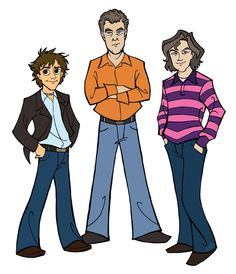 if top gear hosts were cartoon characters... which they sometimes almost seem to be... love this art