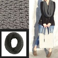 I just discovered this while shopping on Poshmark: Crisscross stitch infinity thick scarf.. Check it out! Price: $15 Size: OS