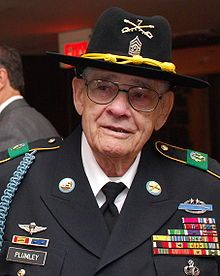 "Basil L. Plumley (January 1, 1920 – October 10, 2012[1]) was a United States Army command sergeant major. He is most famous for his actions as a Sergeant-Major of the US Army's 1st Battalion, 7th Cavalry Regiment, at the Battle of Ia Drang (Vietnam, 1965). General Hal Moore praised Plumley as an outstanding NCO and leader in the book ""We Were Soldiers Once...And Young"""