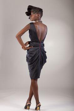 Eki Orleans - bust-gathered dress - back