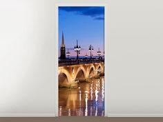 Tür #Tapete Pont De Pierre bei Sonnenuntergang