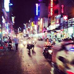 Night rider in Vietnam