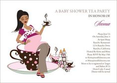 Teacup Mommy - Indian Baby Shower Invitation by #Soulfulmoon
