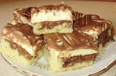 Fashion and Lifestyle Sweet Desserts, Dessert Recipes, Czech Recipes, Ethnic Recipes, Sweet Cakes, Tiramisu, Holiday Recipes, Sweet Tooth, Cheesecake