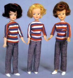 Three Sindy's - Black, Blonde and Auburn Hair. Mine was Auburn. My Childhood Memories, Childhood Toys, Sindy Doll, Doll Toys, Dolls Prams, Baby Boom, Auburn Hair, Retro Toys, My Memory