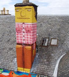 kelburncastle-744962  Os Gemeos - brazilian street artists
