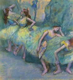 Ballet Dancers in the Wings ~ Edgar Degas