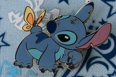 Disney Auctions LE 1000 Trading Pin Stitch With Butterfly On Tail Crawling 31213