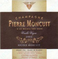 Champagne Pierre Moncuit Cuvee Nicole Moncuit Vieilles Vignes Grand Cru Millesime Brut