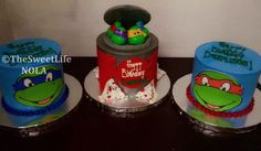 Ninja turtles themed Birthday cakes by The Sweet Life Bakery New Orleans www.nolasweetlife.com email info@nolasweetlife.com (504)371-5153 #nolasweetlife @nolasweetlife
