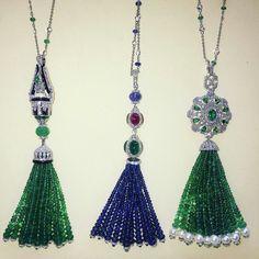 JANNA•BORGEE . Tassels gold , gems Stones. #love#dubai#art