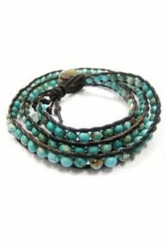 Chan Luu Truquoise Wrap Bracelet on Brown Leather…..Perfect for All Outfits!
