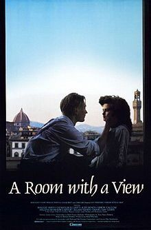 A Room with a View (with Florence in the background) is a British romance drama film Academy Awards nominated adaptation directed by James Ivory. Set in England and Italy, it is about a young woman in the restrictive and repressed culture of Edwardian era England and her developing love for a free-spirited young man.