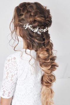 braided wedding hair half up braid pony nicoledrege