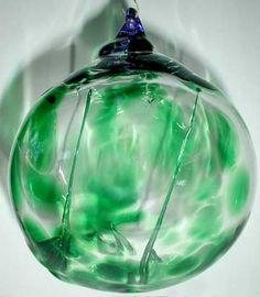Witch Ball, Glass Witch Ball, Blown Glass Witch Ball,