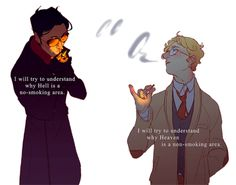 hoursago: crowley's and aziraphale's new year's resolutions