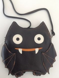Cross Body Vinyl Bat Purse
