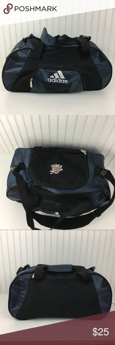 New Okc thunder adidas duffle/gym bag Brand new without tags Okc thunder adidas duffle/gym bag. This bag has an adjustable shoulder strap and handles. It has a front outer pocket. And the Okc logo on the top. Inside zipper compartment adidas Bags Duffel Bags