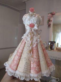 Altered Paper Dressform - SOLD