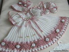 DE MIS MANOS TEJIDOS Y MAS...: Vestido para nenas a crochet