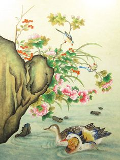 Chinese Painting, Japanese Art, Painting & Drawing, Traditional, Drawings, Paper, Crafts, House, Tinkerbell