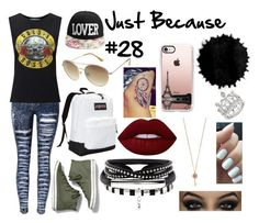 """""""Just Because #28"""" by music-lover-885095 on Polyvore featuring Miss Selfridge, Keds, JanSport, Arizona, Lime Crime, Aéropostale and Casetify"""