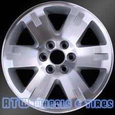 "GMC Sierra Denali wheels for sale 2007-2010. 20"" Machined Silver rims 5306 - http://www.rtwwheels.com/store/?post_type=product&p=33053"