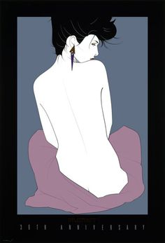 Art by Patrick Nagel MY MON HAD ALL OF THESE THIS WAS PAINTED AFTER A SUPER MODEL that will go nameless