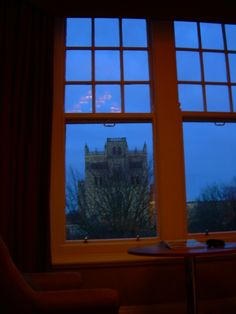 Durham, County Durham, England~View of Durham Cathedral at night from our room. Photo: Elizabeth Atwood