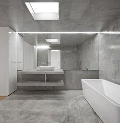 joo tiago aguiar arquitectos apartamento rodrigo da fonseca ii minimalist bathroombathroomslisboninterior designconcreteprojectspowdergalleries - Concrete Bathroom Decoration