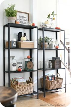 Ikea Shelves Solve an 11 Year Decorating Dilemma Decor, Home Diy, Ikea Diy, Furniture Makeover, Shelf Makeover, Shelves, Ikea Inspiration, Ikea Metal Shelves, Home Decor