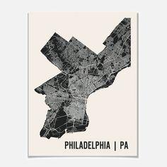 Philadelphia Map Print - Fab.com