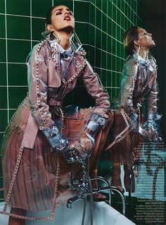 Anja Rubik Is Queen of Hygiene by Mario Sorrenti for Vogue Paris March 2013 — Anne of Carversville