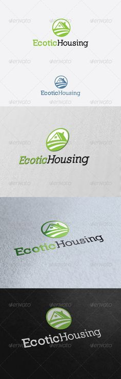 Ecotic Housing Logo Template - Buildings Logo Templates
