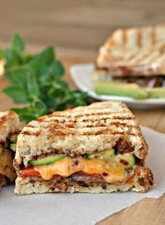 Mexican-Style Grilled Vegetable Sandwiches + Weekly Menu