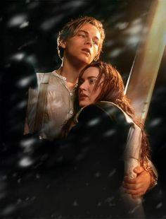 Jack holding Rose