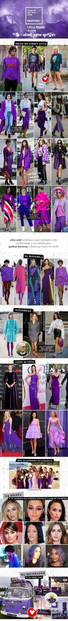 40 (+) ideias para usar Ultra Violet - a cor de 2018, segundo a Pantone! - Garotas Estúpidas - Garotas Estúpidas