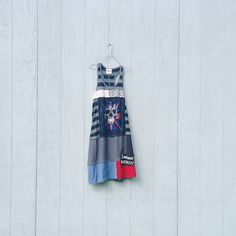 House of Blues whimsical rock and roll dress tunic upcycled clothing Patchwork…