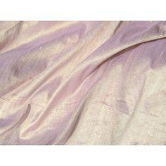 Pale Yellow Lavender Iridescent Dupioni Silk Fabric