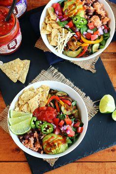 Grilled Veggie Taco Bowl - ilovevegan.com