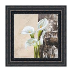 Global Gallery 'Nature II' by Jenny Thomlinson Framed Painting Print on Canvas Framed Canvas Prints, Canvas Frame, Canvas Wall Art, Wood Canvas, Canvas Size, Painting Frames, Painting Prints, Contemporary Wall Art, Floral Style