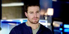 """Arrow reaction Gifs - The Oliver Queen-perfected """"Give me strength"""" eyeroll waiting on Ray"""