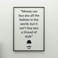 Gentlemen's Style - money can't buy class