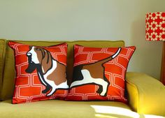 Basset Hound Cushion from Hunkydory Home