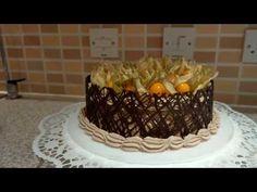 Chocolate Decoration Cake - Decorando con Chocolate by Cakes Step by Step Chocolates, Chocolate Decorations, Love Cake, Cake Decorating, Birthday Cake, Bread, Desserts, Food, Yummy Recipes