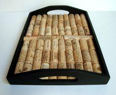 wine cork serving tray